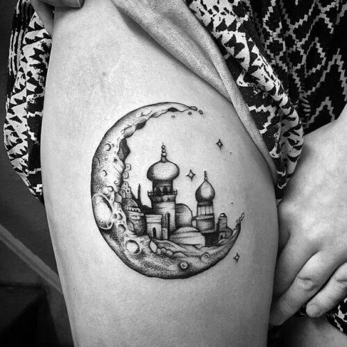 Kingdom Of moon tattoo