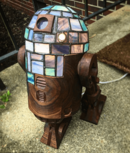 stained glass star wars figure R2D2