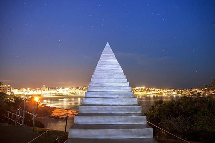 Stairway to heaven sculpture