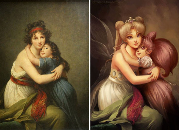 This Artist Is Giving Classical Paintings a Geeky Makeover